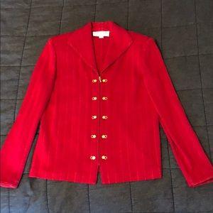 St. John Red Knit Jacket size 6